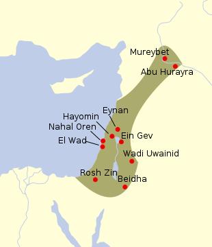 Principales yacimientos natufienses