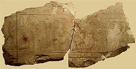 Bajorrelieves que nos muestran la fiesta Seth celebrada en tiempos del rey Seneferu