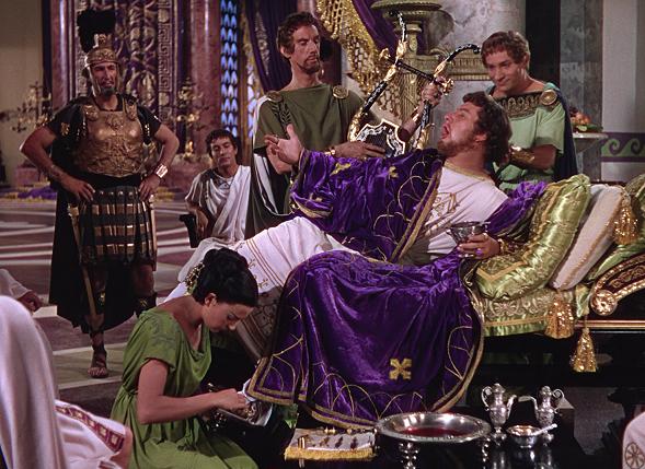 Fotograma de la película Quo Vadis, en donde se interpreta al emperador romano Nerón