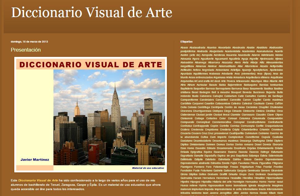 Captura de pantalla de este genial diccionario visual online de arte