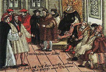Cuadro que representaría a Lutero en el contexto de la Dieta de Wörms