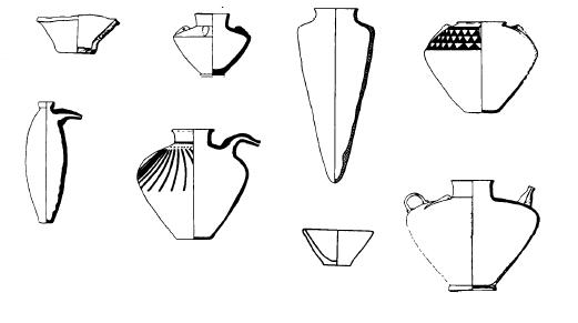 Algunas de las piezas cerámicas más características de los momentos más tardíos del periodo de Uruk