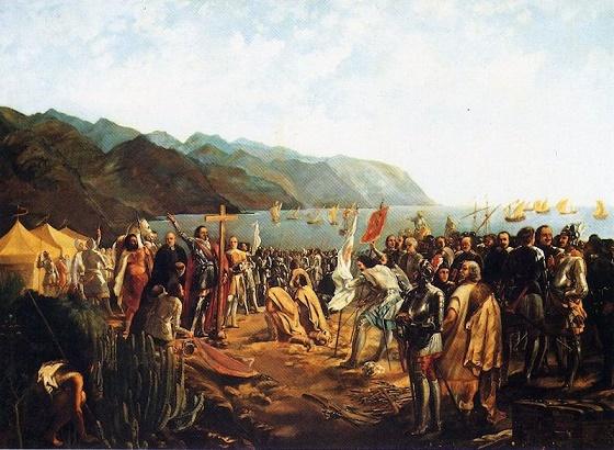 Cuadro que refleja la fundación de Santa Cruz de Tenerife