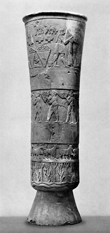 El Vaso de Warka es una de las piezas arqueológicas más curiosas del periodo tardío de Uruk