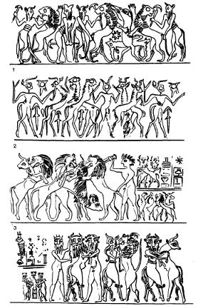 Glíptica de los periodos Protodinásticos/Dinástico Antiguo II y III