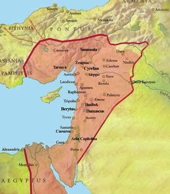 El imperio de Palmira durante el gobierno de la reina Zenobia de Palmira