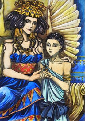 Zenobia de Palmira y su hijo (Deviantart)