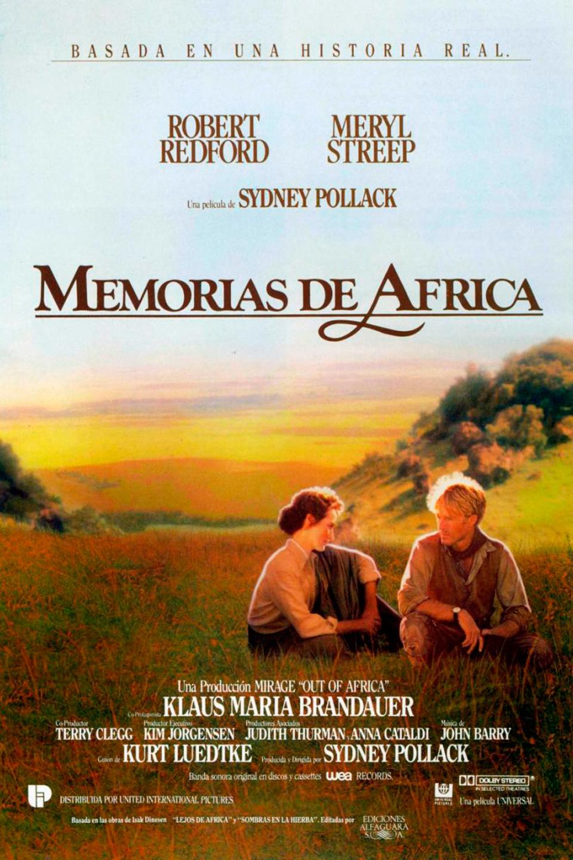 """Cartel de la película """"Memorias de África"""""""