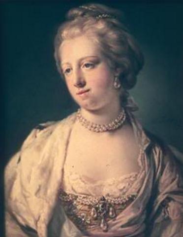Retrato de la verdadera Caroline Mathilde