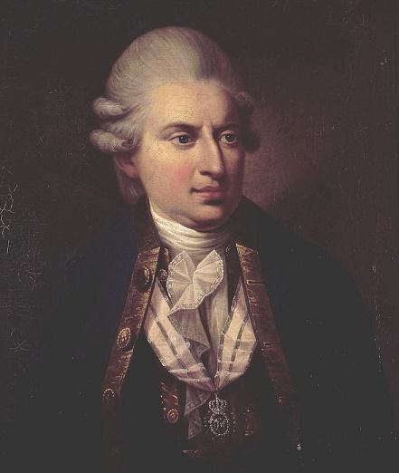 Retrato del verdadero John Friedrich Struensee