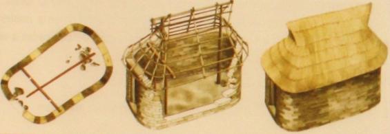 Reconstrucción de la casa oval de la antigua ciudad de Esmirna