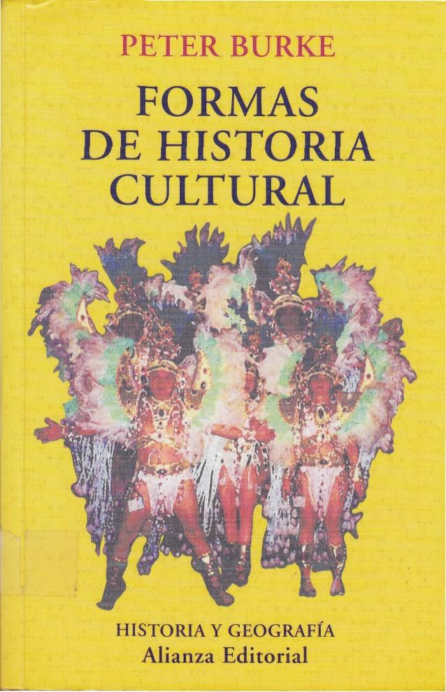 Portada de una de las obras de Peter Burke, representante de la historia cultural