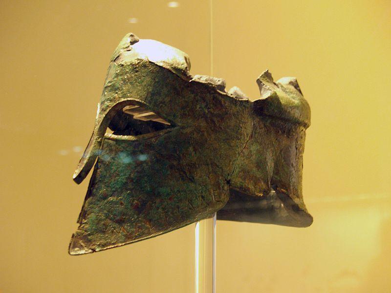 Estado actual del casco conservado de Milcíades el Joven, héroe de la batalla de Maratón