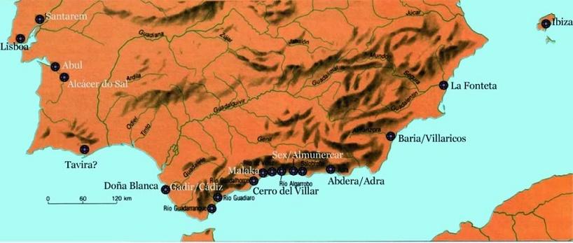 Colonias fenicias en el sur de la península Ibérica