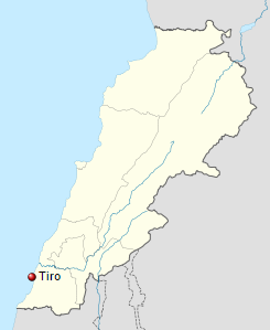 Ubicación de Tiro, una de las ciudades de los fenicios