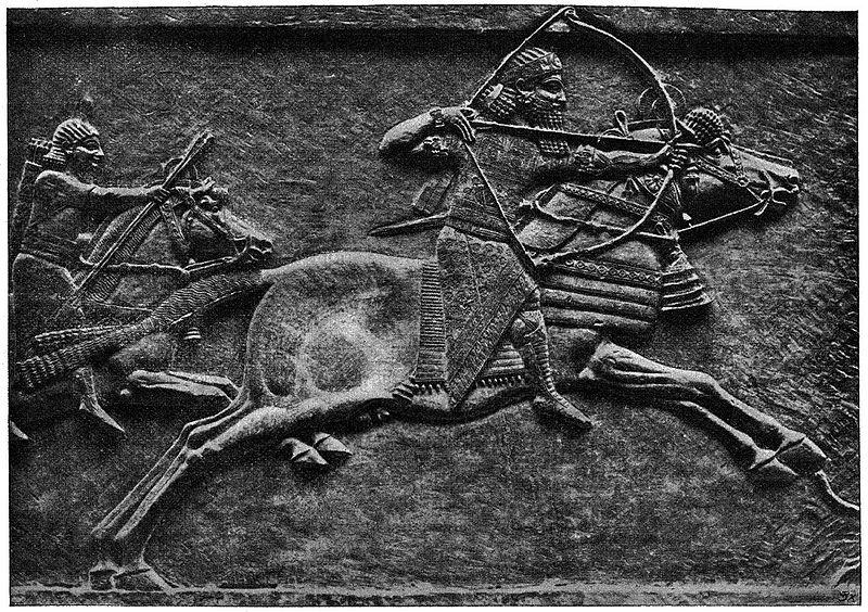 Relieve del rey neoasirio Assurbanipal, conservado en el Museo Británico