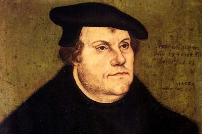 Retrato de Martin Lutero, iniciador de la reforma protestante luterana