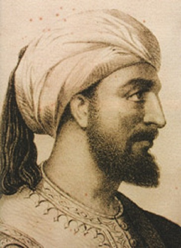 Grabado de Abderramán III, el califa más importante del califato de Córdoba, hecho en el siglo XIX