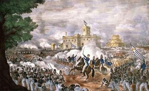 Cuadro representativo de la Batalla de Cepeda de 1820, una de las consecuencias de la independencia de Argentina