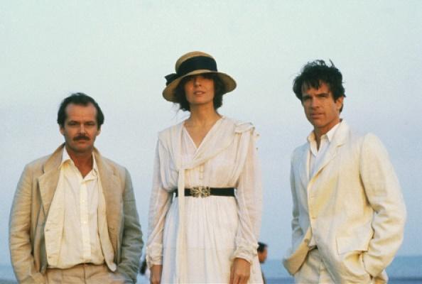 El trío protagonista de la película: Jack Nicholson, Diane Keaton y Warren Beatty