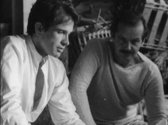 """Fotografía de Jack Nicholson y Warren Beatty en la película """"Rojos"""""""