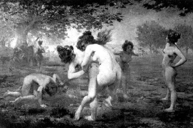 Cuadro de Emmanuel Croise a principios del siglo XX sobre la mujer espartana