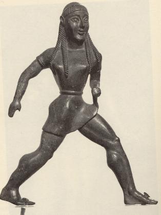 Estatuilla de una mujer espartana