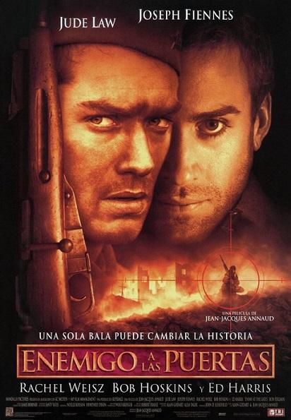 """Cartel oficial en español de la película """"Enemigo a las puertas"""""""