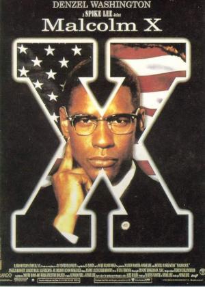 """Cartel de la película """"Malcolm X"""""""