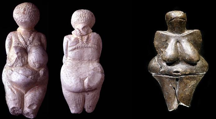 Venus de Dolni Vestonice (izquierda) y Venus de Konstienski (derecha)