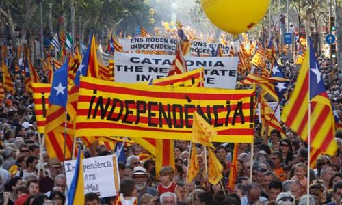 Manifestación del 11 de septiembre de 2012 en Barcelona