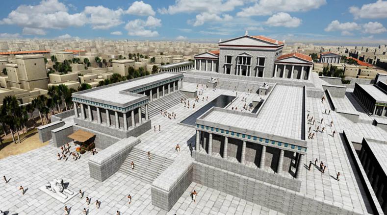 Reconstrucción de la Gran Biblioteca de Alejandría por NixPixMix