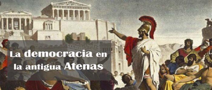 Ilustración idealizada de una sesión de la asamblea ateniense con Pericles