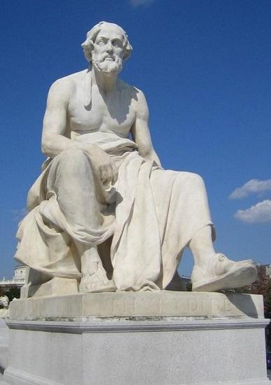 Estatua de Tucídides en el Parlamento de Viena
