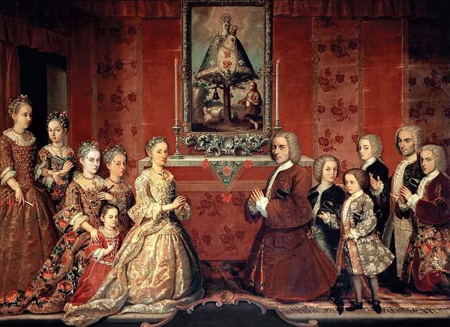 Retrato de familia de los Fagoga Arozqueta, una de las familias criollas más poderosas del México del siglo XVIII