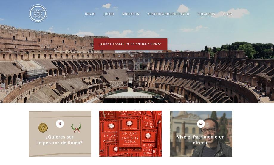 Captura de pantalla general de Antigua Roma al día