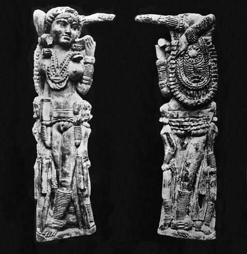 Mango de espejo indio encontrado en Pompeya, de hace 2000 años casi