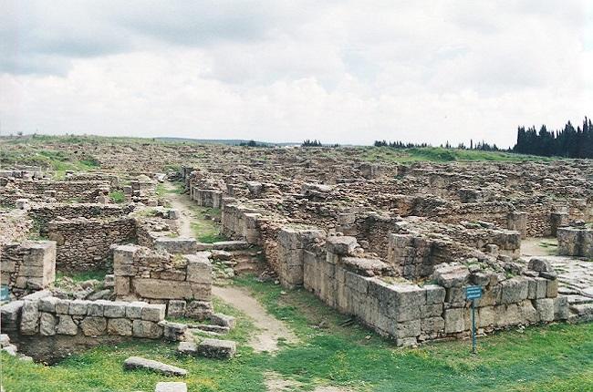 Estado actual del yacimiento de la ciudad que contiene los archivos de Ugarit