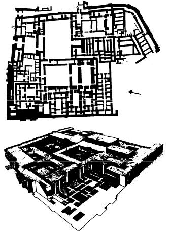 Planta y reconstrucción del palacio de Zimri Lim