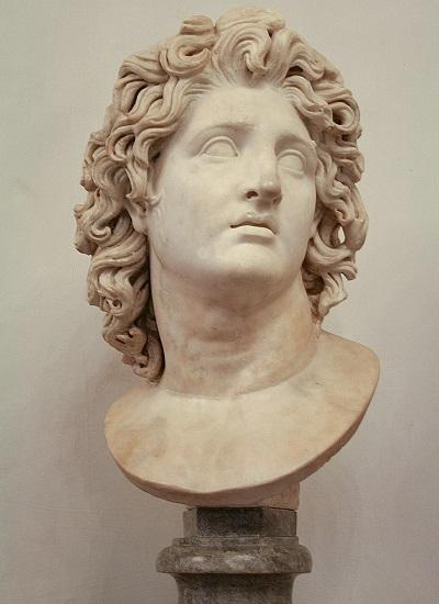 Busto de Alejandro Magno en los Museos Capitolinos de Roma