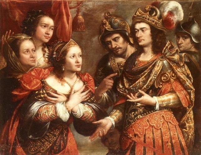 La familia de Darío ante Alejandro Magno, por Justus Sustermans (s.XVII). Allí estaba Estatira, una de las esposas de Alejandro Magno