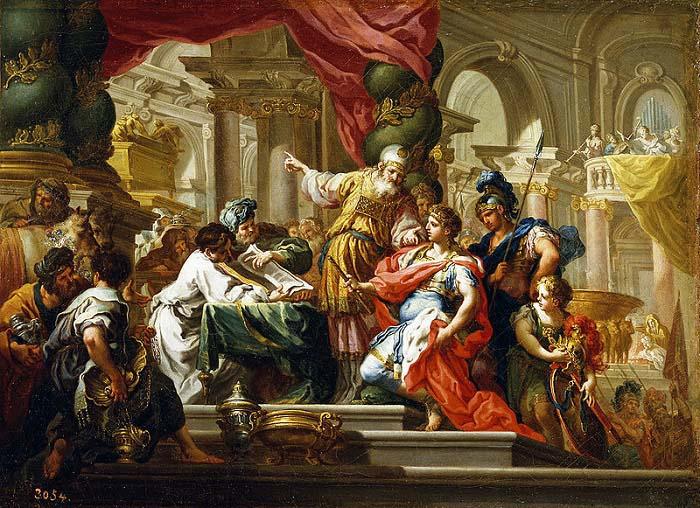 Alejandro en el Templo de Jerusalen, 332 aC, de Sebastiano Conca (1736)