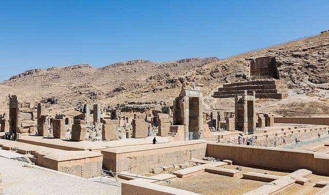 Estado actual de otro de los edificios de Persépolis
