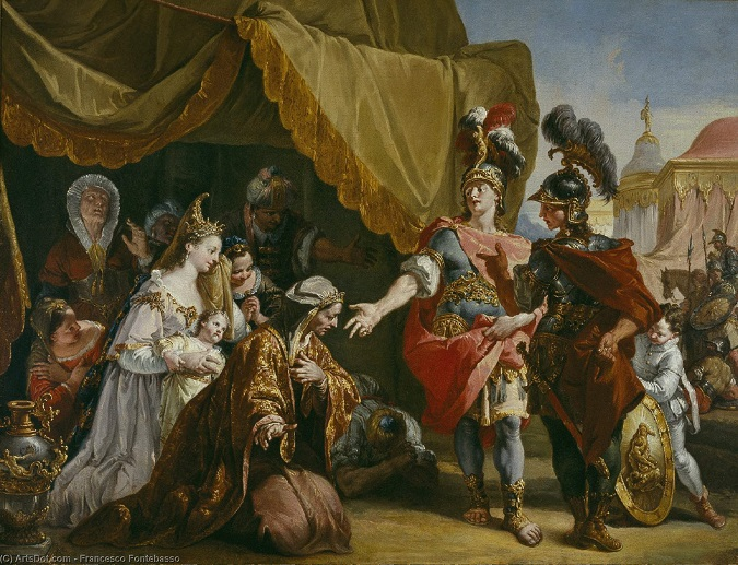 """""""Familia de Darío III ante Alejandro"""" de Francesco Fontebasso (s. XVIII)"""
