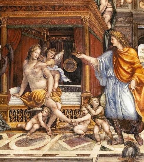 Boda de Alejandro Magno y Roxana, por El Sodoma. Roxana fue una de las esposas de Alejandro Magno