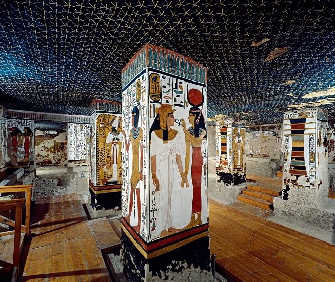 Cámara funeraria de la tumba de Nefertari