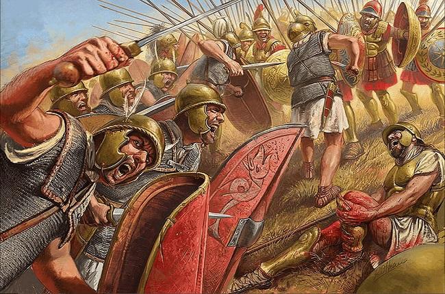 Ilustración que recrea la batalla de Cinoscéfalos, en la segunda de las Guerras Macedónicas