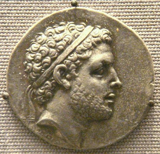 Un tetradracma con la efigie del rey Perseo de Macedonia, derrotado en la batalla de Pidna